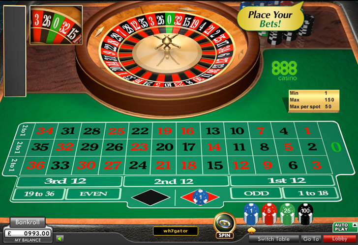 top online casino european roulette play
